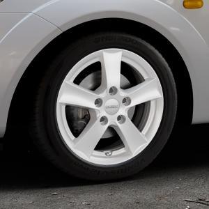 DEZENT TX Silver Felge mit Reifen silber in 15Zoll Winterfelge Alufelge auf silbernem Ford Fiesta V Typ JH1/JD3 ⬇️ mit 15mm Tieferlegung ⬇️ Industriehalle 1 Thumbnail