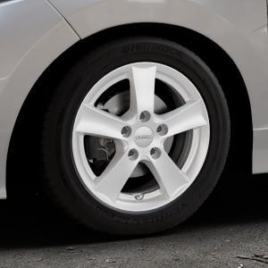 DEZENT TX Silver Felge mit Reifen silber in 15Zoll Winterfelge Alufelge auf silbernem Honda Jazz IV (GK) Facelift ⬇️ mit 15mm Tieferlegung ⬇️ Industriehalle 1 Thumbnail