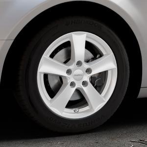 DEZENT TX Silver Felge mit Reifen silber in 16Zoll Winterfelge Alufelge auf silbernem Citroen C5 II ⬇️ mit 15mm Tieferlegung ⬇️ Industriehalle 1 Thumbnail