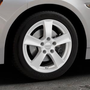 DEZENT TX Silver Felge mit Reifen silber in 16Zoll Winterfelge Alufelge auf silbernem Fiat 124 Spider Typ NF ⬇️ mit 15mm Tieferlegung ⬇️ Industriehalle 1 Thumbnail