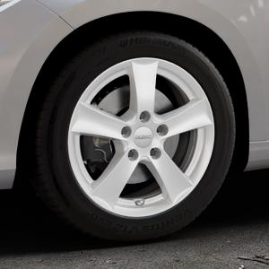 DEZENT TX Silver Felge mit Reifen silber in 16Zoll Winterfelge Alufelge auf silbernem Fiat Tipo II Limousine Typ 356 ⬇️ mit 15mm Tieferlegung ⬇️ Industriehalle 1 Thumbnail