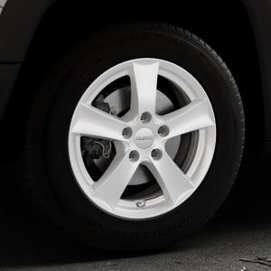 DEZENT TX Silver Felge mit Reifen silber in 16Zoll Winterfelge Alufelge auf silbernem Jeep Renegade Typ BU ⬇️ mit 15mm Tieferlegung ⬇️ Industriehalle 1 Thumbnail
