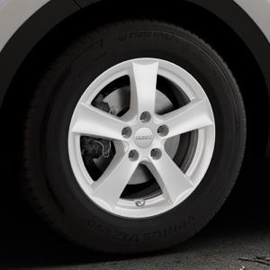 DEZENT TX Silver Felge mit Reifen silber in 16Zoll Winterfelge Alufelge auf silbernem Kia Sportage IV Typ QL QLE ⬇️ mit 15mm Tieferlegung ⬇️ Industriehalle 1 Thumbnail