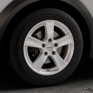 DEZENT TX Silver Felge mit Reifen silber in 16Zoll Winterfelge Alufelge auf silbernem Mazda CX-3 Typ DJ1 ⬇️ mit 15mm Tieferlegung ⬇️ Industriehalle 1 Thumbnail