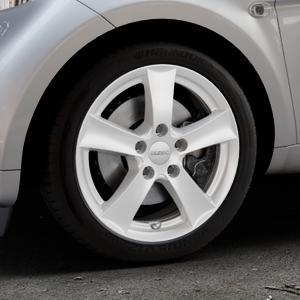 DEZENT TX Silver Felge mit Reifen silber in 16Zoll Winterfelge Alufelge auf silbernem Smart Fortwo Coupe III (14-) (453) Cabrio (16-) ⬇️ mit 15mm Tieferlegung ⬇️ Industriehalle 1 Thumbnail