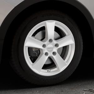 DEZENT TX Silver Felge mit Reifen silber in 16Zoll Winterfelge Alufelge auf silbernem Ssangyong Tivoli Typ XK ⬇️ mit 15mm Tieferlegung ⬇️ Industriehalle 1 Thumbnail
