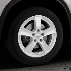 DEZENT TX Silver Felge mit Reifen silber in 16Zoll Winterfelge Alufelge auf silbernem Suzuki Vitara Typ LY ⬇️ mit 15mm Tieferlegung ⬇️ Industriehalle 1 Thumbnail
