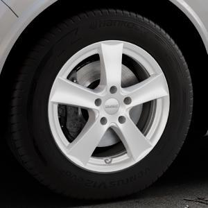 DEZENT TX Silver Felge mit Reifen silber in 17Zoll Winterfelge Alufelge auf silbernem Alfa Romeo Stelvio Typ 949 ⬇️ mit 15mm Tieferlegung ⬇️ Industriehalle 1 Thumbnail