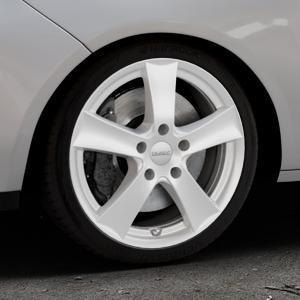 DEZENT TX Silver Felge mit Reifen silber in 17Zoll Winterfelge Alufelge auf silbernem Opel Adam ⬇️ mit 15mm Tieferlegung ⬇️ Industriehalle 1 Thumbnail