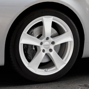 DEZENT TX Silver Felge mit Reifen silber in 18Zoll Winterfelge Alufelge auf silbernem Alfa Romeo 159 Sportwagon ⬇️ mit 15mm Tieferlegung ⬇️ Industriehalle 1 Thumbnail