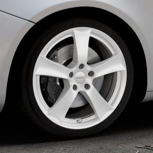DEZENT TX Silver Felge mit Reifen silber in 18Zoll Winterfelge Alufelge auf silbernem Alfa Romeo Giulietta Typ 940 ⬇️ mit 15mm Tieferlegung ⬇️ Industriehalle 1 Thumbnail
