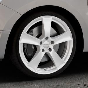 DEZENT TX Silver Felge mit Reifen silber in 18Zoll Winterfelge Alufelge auf silbernem Dacia Logan II Typ SD ⬇️ mit 15mm Tieferlegung ⬇️ Industriehalle 1 Thumbnail