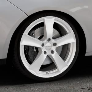 DEZENT TX Silver Felge mit Reifen silber in 18Zoll Winterfelge Alufelge auf silbernem Opel Adam ⬇️ mit 15mm Tieferlegung ⬇️ Industriehalle 1 Thumbnail