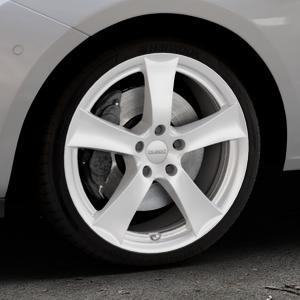 DEZENT TX Silver Felge mit Reifen silber in 18Zoll Winterfelge Alufelge auf silbernem Opel Corsa E Typ S-D ⬇️ mit 15mm Tieferlegung ⬇️ Industriehalle 1 Thumbnail