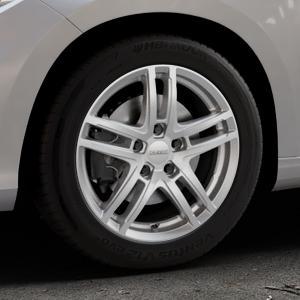 DEZENT TZ Silver Felge mit Reifen silber in 16Zoll Winterfelge Alufelge auf silbernem Fiat Tipo II Limousine Typ 356 ⬇️ mit 15mm Tieferlegung ⬇️ Industriehalle 1 Thumbnail