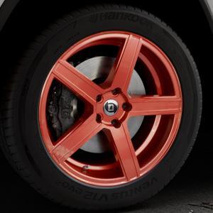 DIEWE WHEELS Cavo Kupfer Felge mit Reifen rot kupfer metallic in 20Zoll Alufelge auf silbernem Jeep Grand Cherokee IV Typ WK ⬇️ mit 15mm Tieferlegung ⬇️ Industriehalle 1 Thumbnail