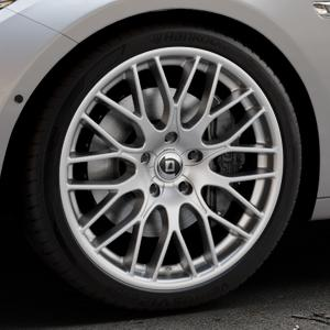DIEWE WHEELS Impatto Argento silber Felge mit Reifen in 20Zoll Winterfelge Alufelge auf silbernem BMW 535i GT Typ F07 xDrive 550i 530d 535d 520d 528i ⬇️ mit 15mm Tieferlegung ⬇️ Industriehalle 1 Thumbnail