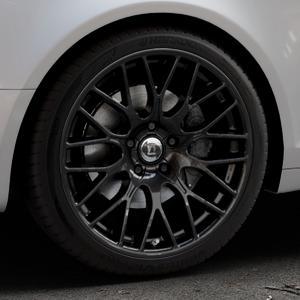 DIEWE WHEELS Impatto NeroS Felge mit Reifen grau schwarz in 19Zoll Winterfelge Alufelge auf silbernem Audi A6 Typ 4F/C6 (Avant) ⬇️ mit 15mm Tieferlegung ⬇️ Industriehalle 1 Thumbnail