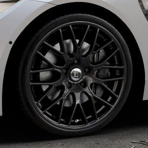 DIEWE WHEELS Impatto NeroS Felge mit Reifen grau schwarz in 20Zoll Winterfelge Alufelge auf silbernem BMW M4 Typ F83 (Cabrio) 3,0l 317kW (431 PS) ⬇️ mit 15mm Tieferlegung ⬇️ Industriehalle 1 Thumbnail