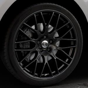 DIEWE WHEELS Impatto NeroS Felge mit Reifen grau schwarz in 22Zoll Winterfelge Alufelge auf silbernem Jaguar F-Pace Typ DC ⬇️ mit 15mm Tieferlegung ⬇️ Industriehalle 1 Thumbnail