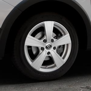 DIEWE WHEELS Matto pigmentsilber Felge mit Reifen in 15Zoll Winterfelge Alufelge auf silbernem Dacia Sandero Stepway II Typ SD ⬇️ mit 15mm Tieferlegung ⬇️ Industriehalle 1 Thumbnail