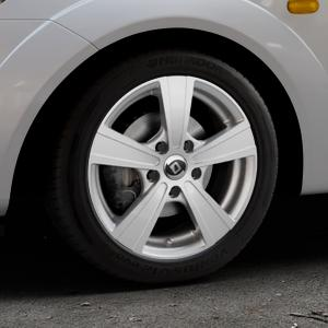 DIEWE WHEELS Matto pigmentsilber Felge mit Reifen in 15Zoll Winterfelge Alufelge auf silbernem Ford Fiesta V Typ JH1/JD3 ⬇️ mit 15mm Tieferlegung ⬇️ Industriehalle 1 Thumbnail