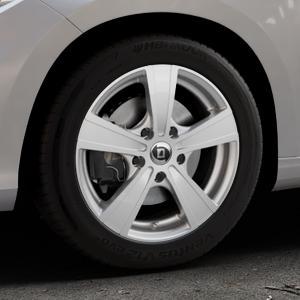 DIEWE WHEELS Matto pigmentsilber Felge mit Reifen in 16Zoll Winterfelge Alufelge auf silbernem Fiat Tipo II Limousine Typ 356 ⬇️ mit 15mm Tieferlegung ⬇️ Industriehalle 1 Thumbnail