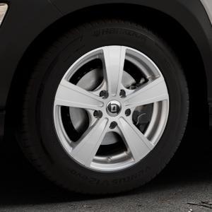 DIEWE WHEELS Matto Pigmentsilber Felge mit Reifen in 16Zoll Winterfelge Alufelge auf silbernem Hyundai Kona Typ OS ⬇️ mit 15mm Tieferlegung ⬇️ Industriehalle 1 Thumbnail