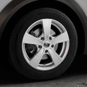 DIEWE WHEELS Matto pigmentsilber Felge mit Reifen in 16Zoll Winterfelge Alufelge auf silbernem Mazda CX-3 Typ DJ1 ⬇️ mit 15mm Tieferlegung ⬇️ Industriehalle 1 Thumbnail