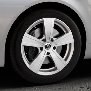 DIEWE WHEELS Matto pigmentsilber Felge mit Reifen in 17Zoll Winterfelge Alufelge auf silbernem Alfa Romeo 159 Sportwagon ⬇️ mit 15mm Tieferlegung ⬇️ Industriehalle 1 Thumbnail