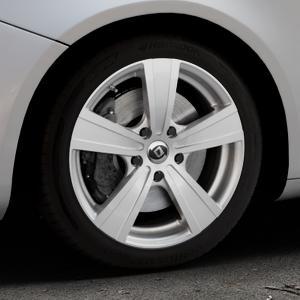 DIEWE WHEELS Matto pigmentsilber Felge mit Reifen in 17Zoll Winterfelge Alufelge auf silbernem Alfa Romeo Giulietta Typ 940 ⬇️ mit 15mm Tieferlegung ⬇️ Industriehalle 1 Thumbnail