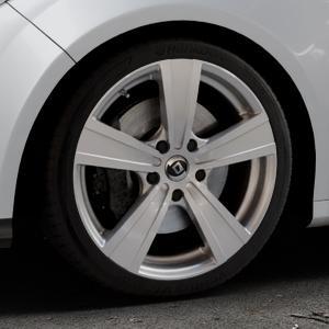 DIEWE WHEELS Matto pigmentsilber Felge mit Reifen in 18Zoll Winterfelge Alufelge auf silbernem Ford Focus III Typ DYB (Schrägheck) (Stufenheck) Facelift ⬇️ mit 15mm Tieferlegung ⬇️ Industriehalle 1 Thumbnail