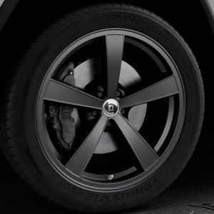 DIEWE WHEELS Trina Nero Felge mit Reifen schwarz in 21Zoll Winterfelge Alufelge auf silbernem Jeep Grand Cherokee IV Typ WK ⬇️ mit 15mm Tieferlegung ⬇️ Industriehalle 1 Thumbnail