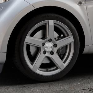 DOTZ CP5 Graphite matt Felge mit Reifen grau in 16Zoll Winterfelge Alufelge auf silbernem Smart Fortwo Coupe III (14-) (453) Cabrio (16-) ⬇️ mit 15mm Tieferlegung ⬇️ Industriehalle 1 Thumbnail
