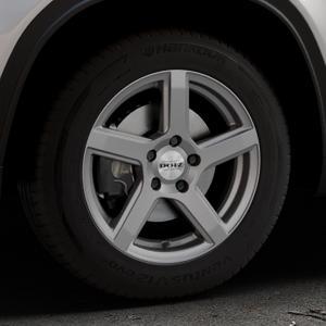 DOTZ CP5 Graphite matt Felge mit Reifen grau in 16Zoll Winterfelge Alufelge auf silbernem Suzuki Vitara Typ LY ⬇️ mit 15mm Tieferlegung ⬇️ Industriehalle 1 Thumbnail