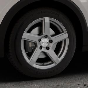 DOTZ CP5 Graphite matt Felge mit Reifen grau in 16Zoll Winterfelge Alufelge auf silbernem Volkswagen (VW) T-Cross ⬇️ mit 15mm Tieferlegung ⬇️ Industriehalle 1 Thumbnail