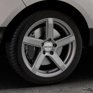 DOTZ CP5 Graphite matt Felge mit Reifen grau in 17Zoll Winterfelge Alufelge auf silbernem Ford EcoSport Typ JK8 Facelift ⬇️ mit 15mm Tieferlegung ⬇️ Industriehalle 1 Thumbnail
