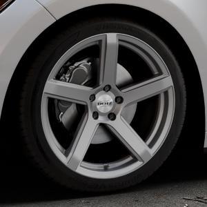 DOTZ CP5 Graphite matt Felge mit Reifen grau in 19Zoll Winterfelge Alufelge auf silbernem Ford Mustang VI Coupe Typ LAE Cabrio ⬇️ mit 15mm Tieferlegung ⬇️ Industriehalle 1 Thumbnail