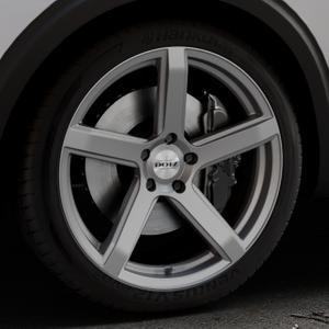 DOTZ CP5 Graphite matt Felge mit Reifen grau in 20Zoll Winterfelge Alufelge auf silbernem Peugeot 5008 Typ M ⬇️ mit 15mm Tieferlegung ⬇️ Industriehalle 1 Thumbnail