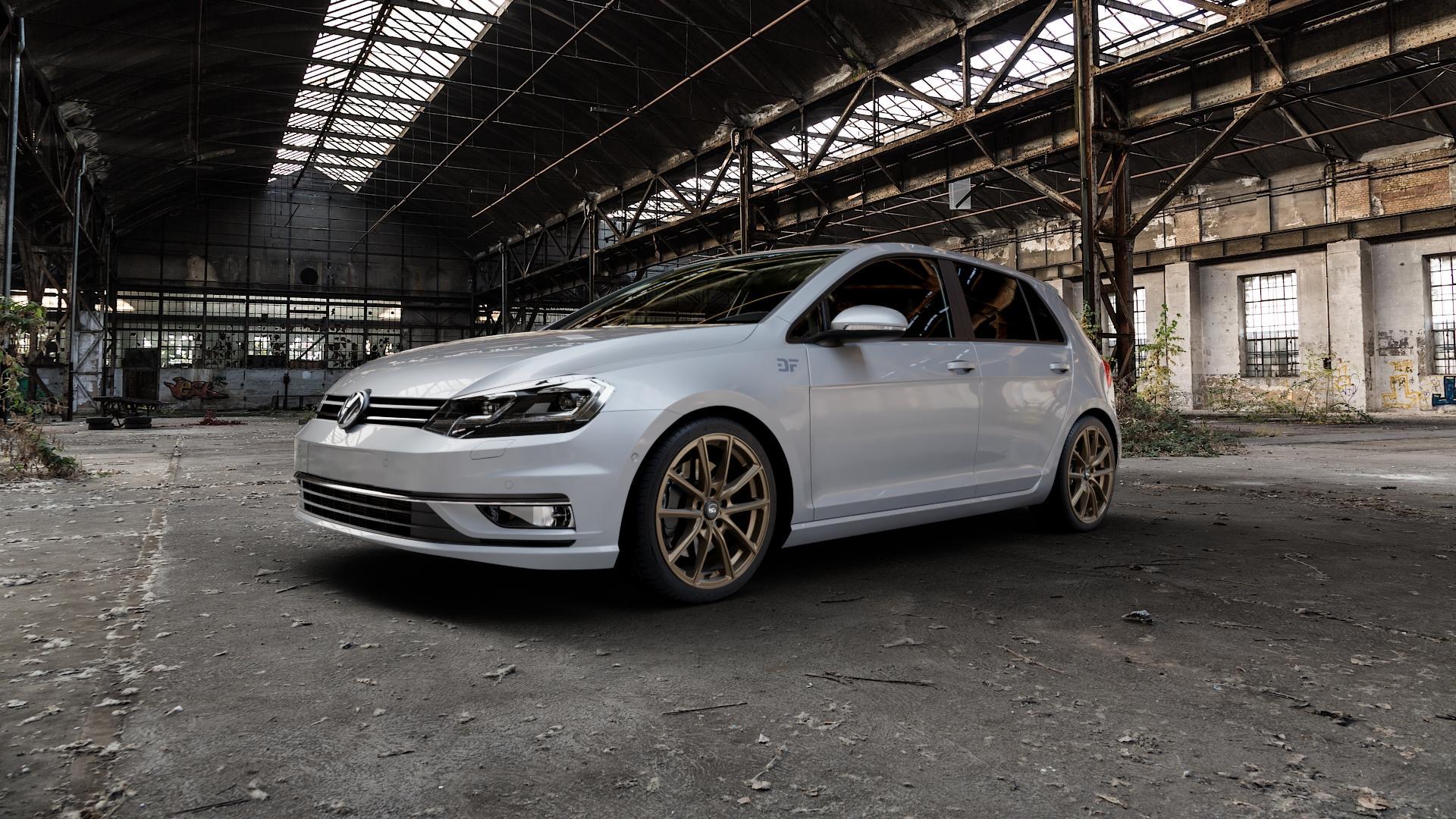 ENKEI Nagato Matt bronze Felge mit Reifen in 18Zoll Winterfelge Alufelge auf silbernem Volkswagen (VW) Golf 7 Facelift 1,0l TSI 63kW (86 PS) 2,0l TDI 110kW (150 1,6l 66kW (90 1,4l 92kW (125 EcoFuel 85kW (116 81kW (110 TGI 4Motion 1,5l 96kW (131 ⬇️ mit 15mm Tieferlegung ⬇️ Industriehalle 1 Camera_000