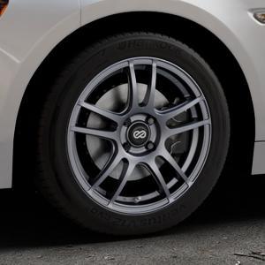 ENKEI Yamato Matt gun metal Felge mit Reifen grau in 16Zoll Winterfelge Alufelge auf silbernem Fiat 124 Spider Typ NF ⬇️ mit 15mm Tieferlegung ⬇️ Industriehalle 1 Thumbnail