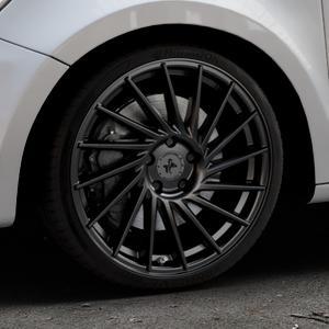 KESKIN KT17 MATT BLACK PAINTED Felge mit Reifen schwarz in 18Zoll Winterfelge Alufelge auf silbernem Audi A1 Typ 8X (Sportback) ⬇️ mit 15mm Tieferlegung ⬇️ Industriehalle 1 Thumbnail