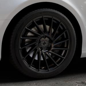 KESKIN KT17 MATT BLACK PAINTED Felge mit Reifen schwarz in 18Zoll Winterfelge Alufelge auf silbernem Audi A4 Typ 8K2/B8 (Limousine) ⬇️ mit 15mm Tieferlegung ⬇️ Industriehalle 1 Thumbnail