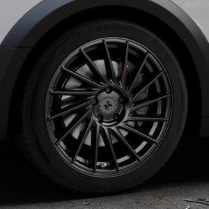 KESKIN KT17 MATT BLACK PAINTED Felge mit Reifen schwarz in 18Zoll Winterfelge Alufelge auf silbernem Audi A4 Typ B9 Allroad ⬇️ mit 15mm Tieferlegung ⬇️ Industriehalle 1 Thumbnail