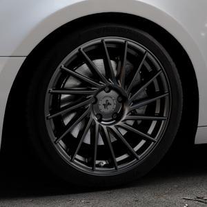 KESKIN KT17 MATT BLACK PAINTED Felge mit Reifen schwarz in 18Zoll Winterfelge Alufelge auf silbernem Audi A4 Typ B9 (Avant) ⬇️ mit 15mm Tieferlegung ⬇️ Industriehalle 1 Thumbnail