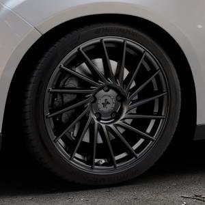 KESKIN KT17 MATT BLACK PAINTED Felge mit Reifen schwarz in 18Zoll Winterfelge Alufelge auf silbernem Ford Focus III Typ DYB Facelift (Schrägheck) ⬇️ mit 15mm Tieferlegung ⬇️ Industriehalle 1 Thumbnail