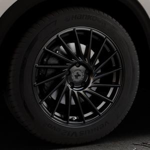 KESKIN KT17 MATT BLACK PAINTED Felge mit Reifen schwarz in 18Zoll Winterfelge Alufelge auf silbernem Mazda CX-5 Typ KF ⬇️ mit 15mm Tieferlegung ⬇️ Industriehalle 1 Thumbnail