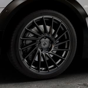 KESKIN KT17 MATT BLACK PAINTED Felge mit Reifen schwarz in 18Zoll Winterfelge Alufelge auf silbernem Mini F54 Typ UKL-L (Clubman) FMK ⬇️ mit 15mm Tieferlegung ⬇️ Industriehalle 1 Thumbnail