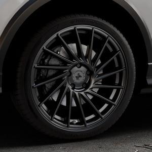 KESKIN KT17 MATT BLACK PAINTED Felge mit Reifen schwarz in 19Zoll Winterfelge Alufelge auf silbernem Audi Q2 Typ GA ⬇️ mit 15mm Tieferlegung ⬇️ Industriehalle 1 Thumbnail