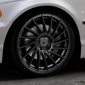 KESKIN KT17 MATT BLACK PAINTED Felge mit Reifen schwarz in 19Zoll Winterfelge Alufelge auf silbernem BMW 316i Typ E46 (Limousine) 318i 320i 323i 328i 325i 330d 330xd 330i 318d 320d 325xi 330xi ⬇️ mit 15mm Tieferlegung ⬇️ Industriehalle 1 Thumbnail